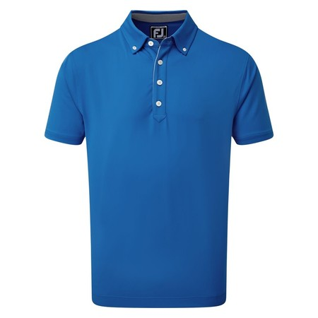 FootJoy Lisle Solid with Contrast Trim and Button Down Collar