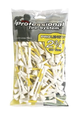 "Pride PTS 2 3/4"" - 69mm Tees Yellow Pack 100"
