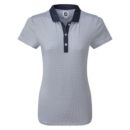 FootJoy Women's Cap Sleeve Micro Interlock Dot Print Shirt