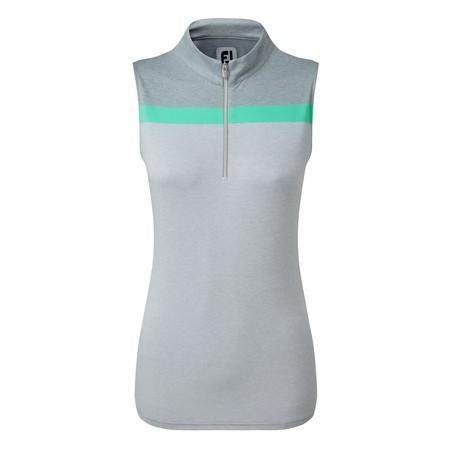 FootJoy Womens Lisle Engineered Stripe Sleeveless Shirt