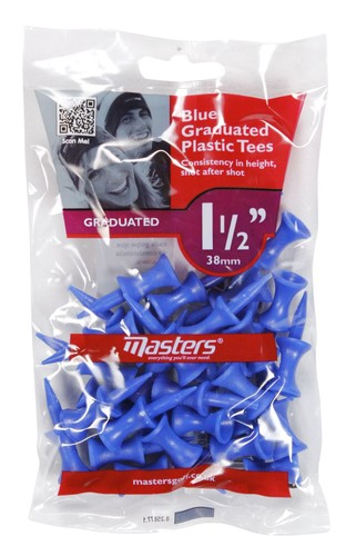 Plastic Graduated Tees 1 1/2 Bag 30 Blue