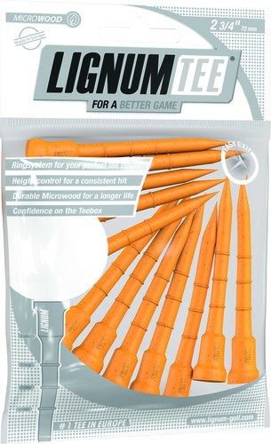 Lignum Tee 72 mm Spinning Orange 12 Pcs