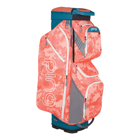 Ping Traverse Cart Bag Storm Coral Bloom