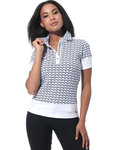 MDC Meryl Print Check Polo Shirt